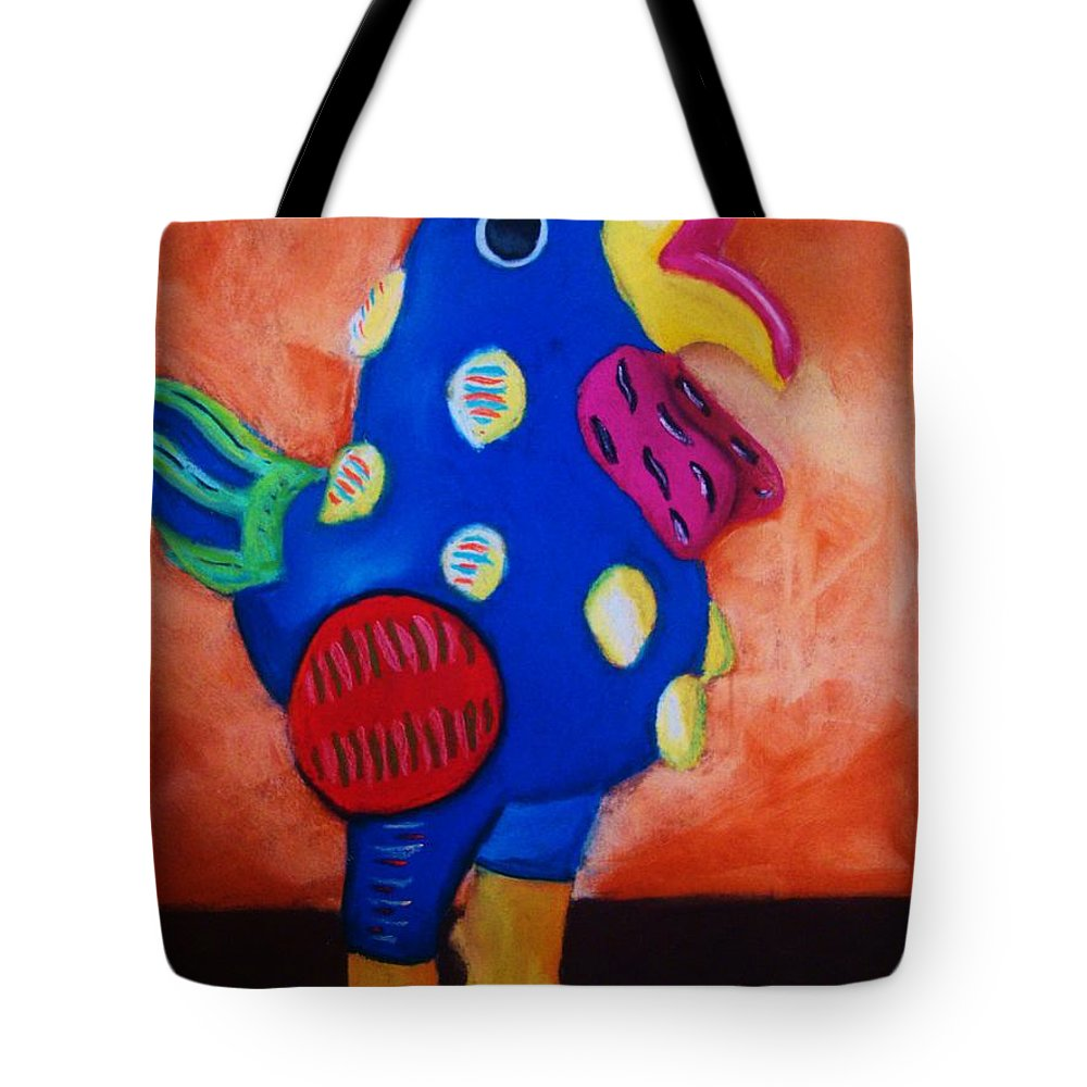 Chick Tote Bag featuring the painting Hear Ye Hear Ye by Melinda Etzold