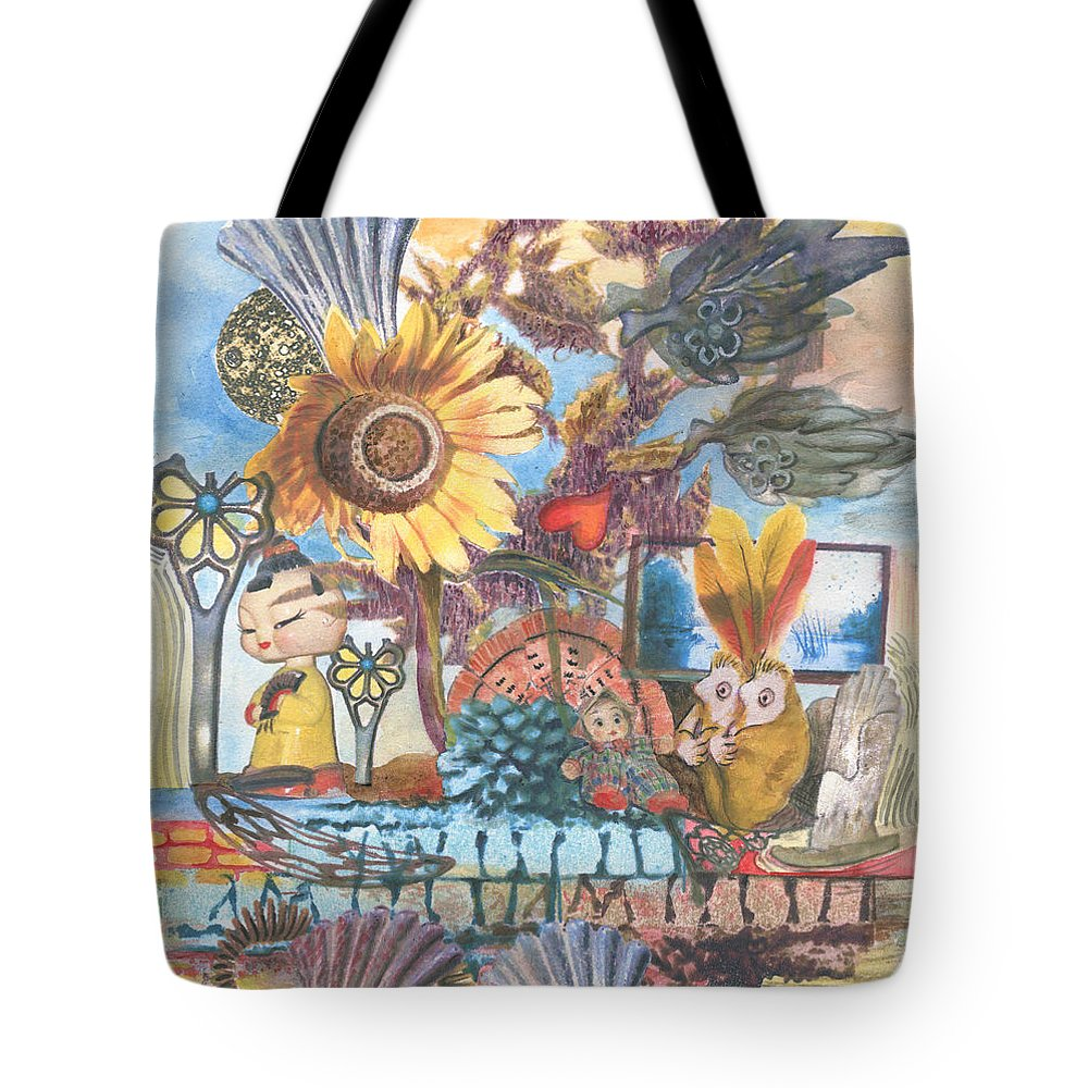 Abstract Tote Bag featuring the painting Heart And Soul by Valerie Meotti