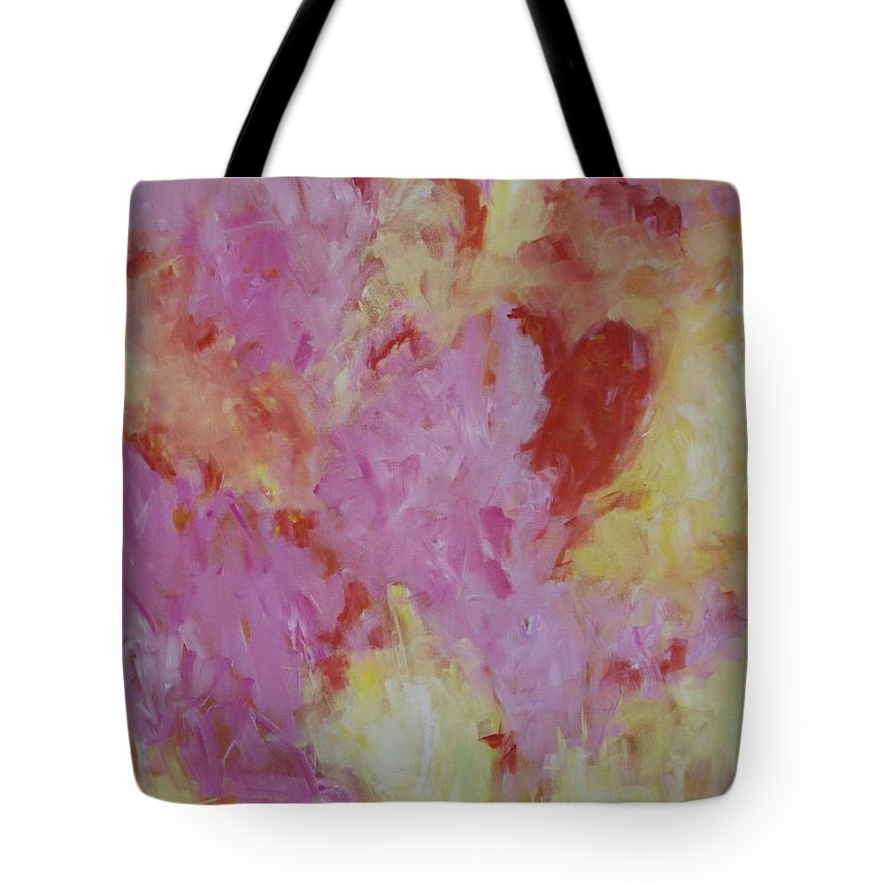 Heart Tote Bag featuring the painting Heart Dance by Tara Moorman