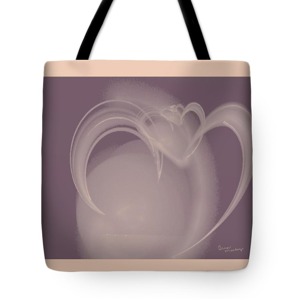 Heart Tote Bag featuring the digital art Heart Jug by Gina Lee Manley