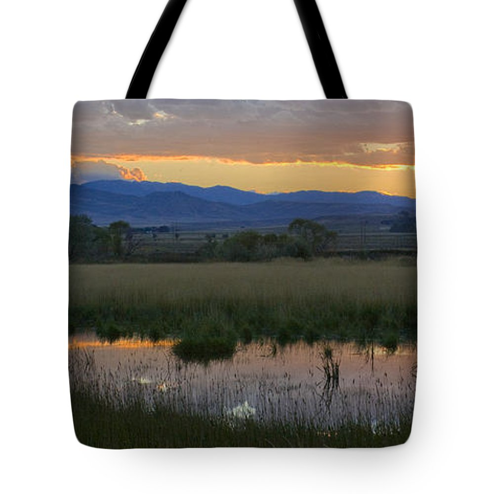 Canal Tote Bag featuring the photograph Heart Mountain Sunset by Idaho Scenic Images Linda Lantzy