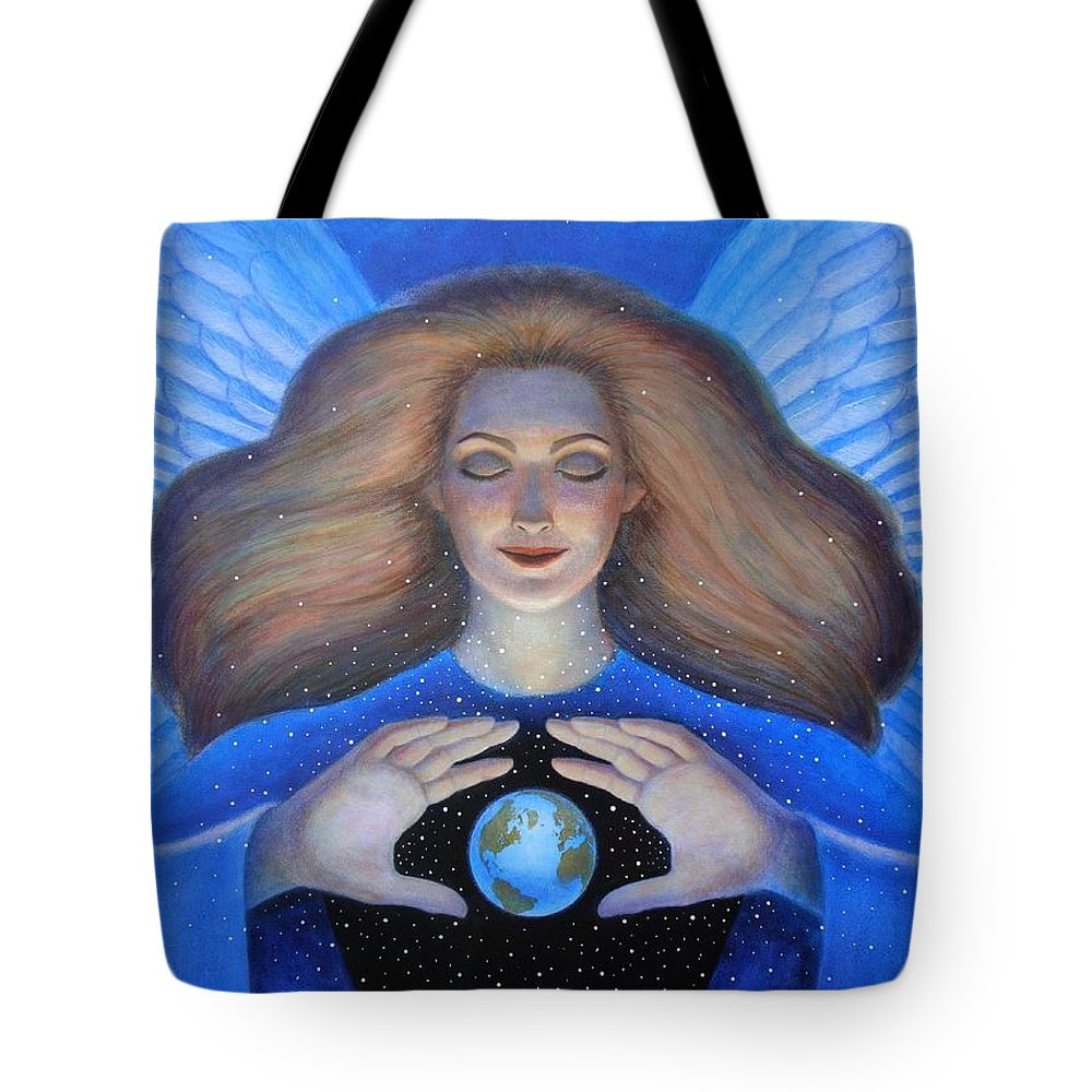 Goddess Tote Bag featuring the painting Heart Of Creation by Sue Halstenberg