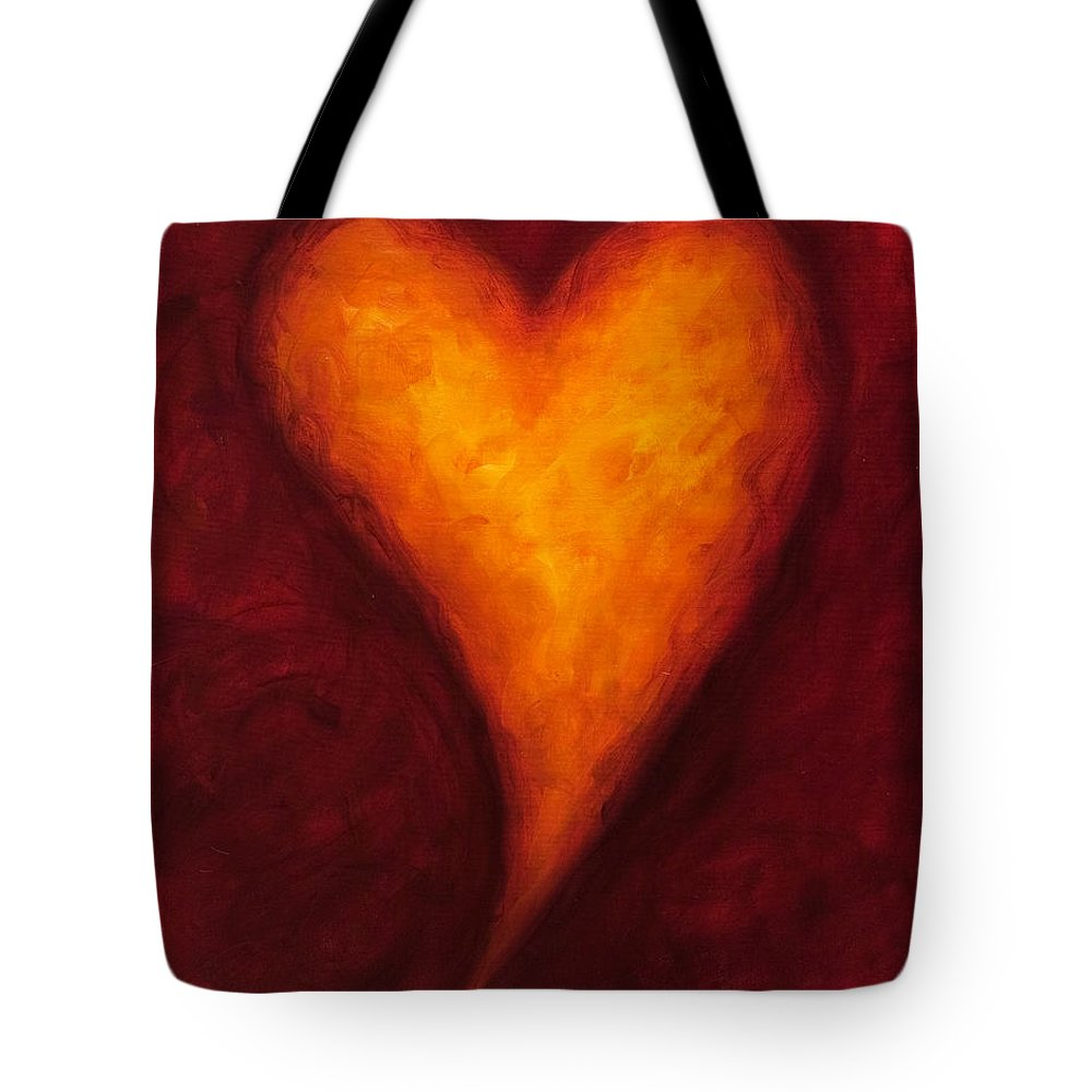 Heart Tote Bag featuring the painting Heart Of Gold 2 by Shannon Grissom