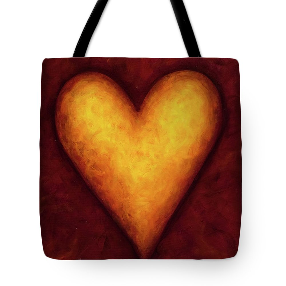 Heart Tote Bag featuring the painting Heart Of Gold 4 by Shannon Grissom