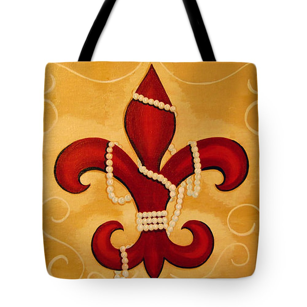 Fleur De Lis Tote Bag featuring the painting Heart Of New Orleans by Valerie Carpenter