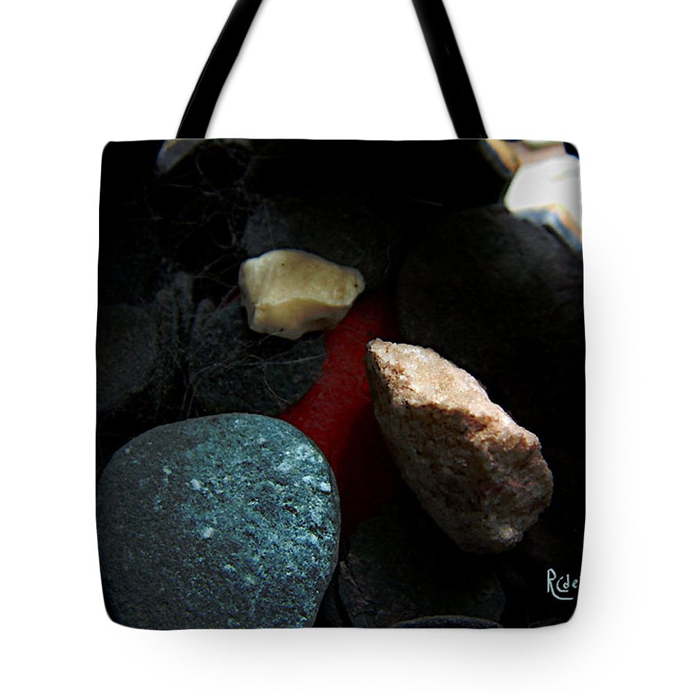 Rocks Tote Bag featuring the photograph Heart Of Stone by RC DeWinter