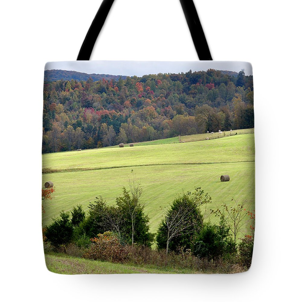 Landscapes Tote Bag featuring the photograph Heart Of The Country by Jan Amiss Photography