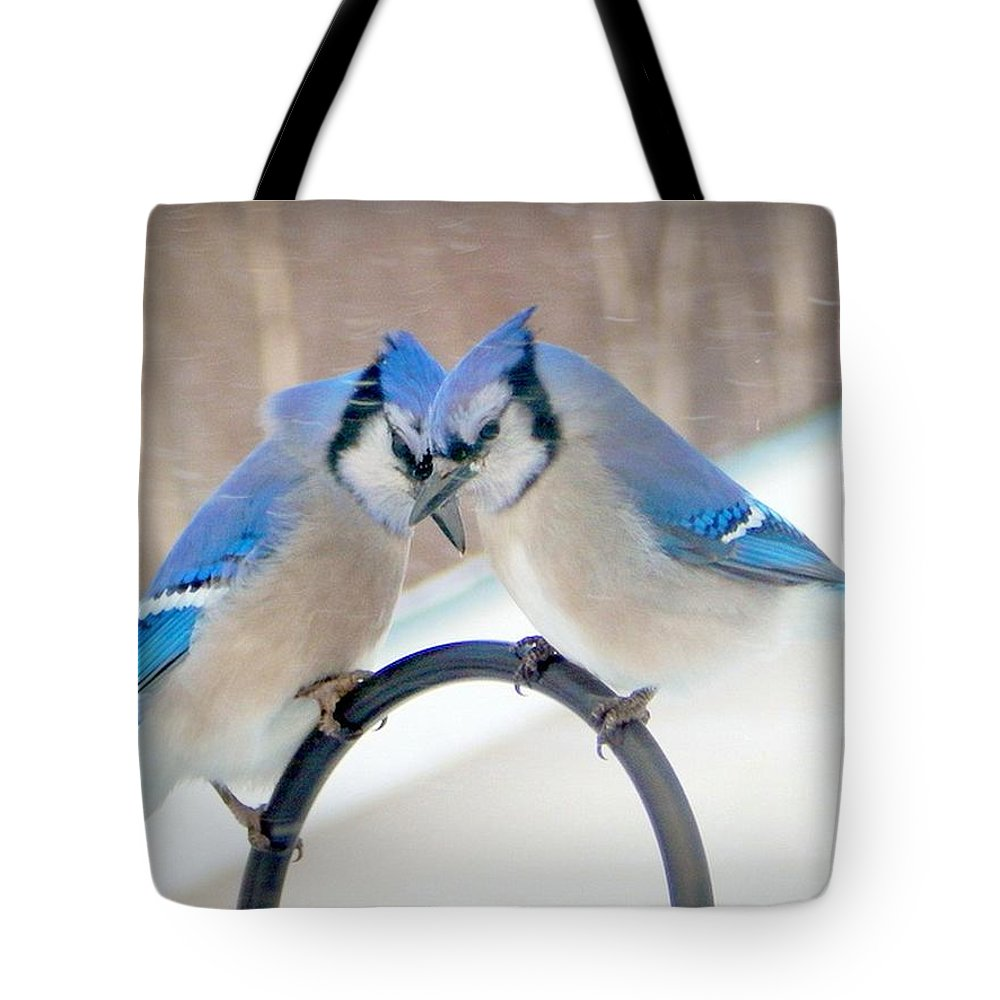 Heart To Heart Tote Bag featuring the photograph Heart To Heart by Karen Cook