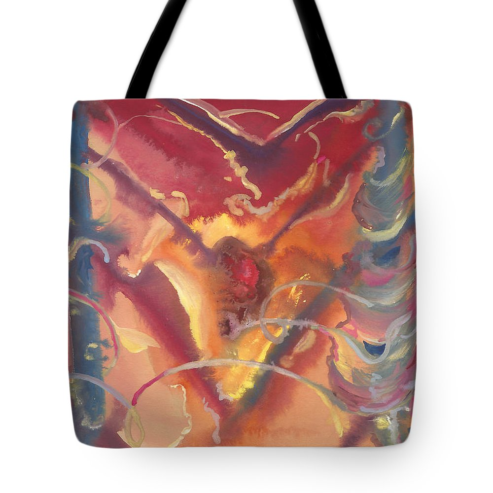Heart Unveiled Tote Bag featuring the painting Heart Unveiled by Sheri Jo Posselt