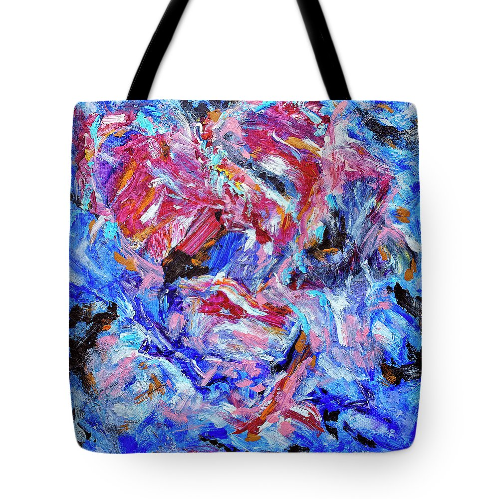 Abstract Tote Bag featuring the painting Heartbreaker by Dominic Piperata