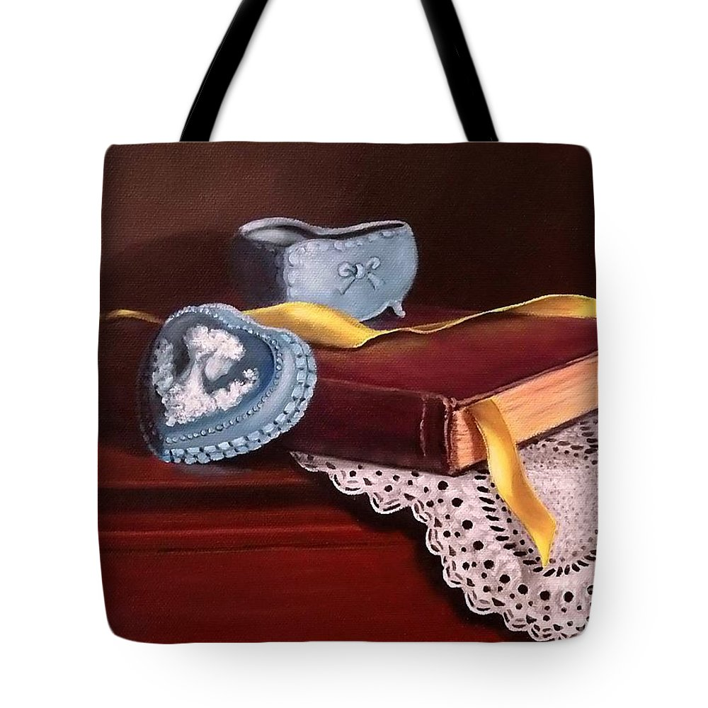 Book Tote Bag featuring the painting Heartfelt by Patricia Lang