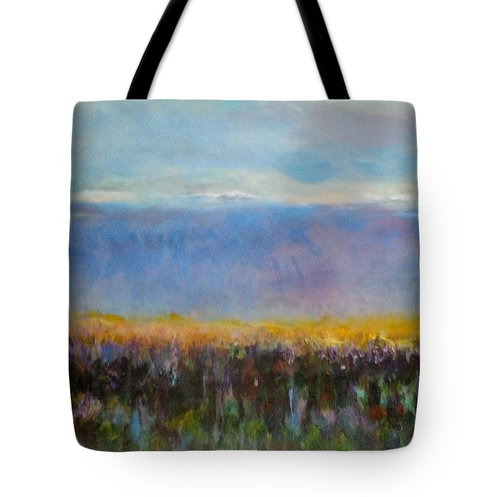 Impressionist Tote Bag featuring the painting Heartland At Dusk by Patty Mowatt