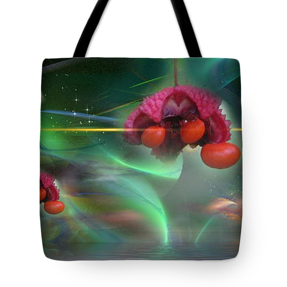 Phil Sadler Tote Bag featuring the digital art Heart's Aburstin by Phil Sadler