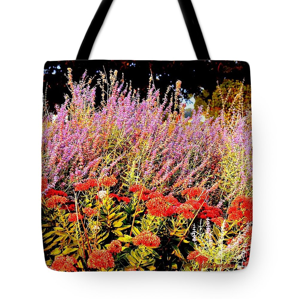Gardens Tote Bag featuring the photograph Heather And Sedum by Patricia L Davidson