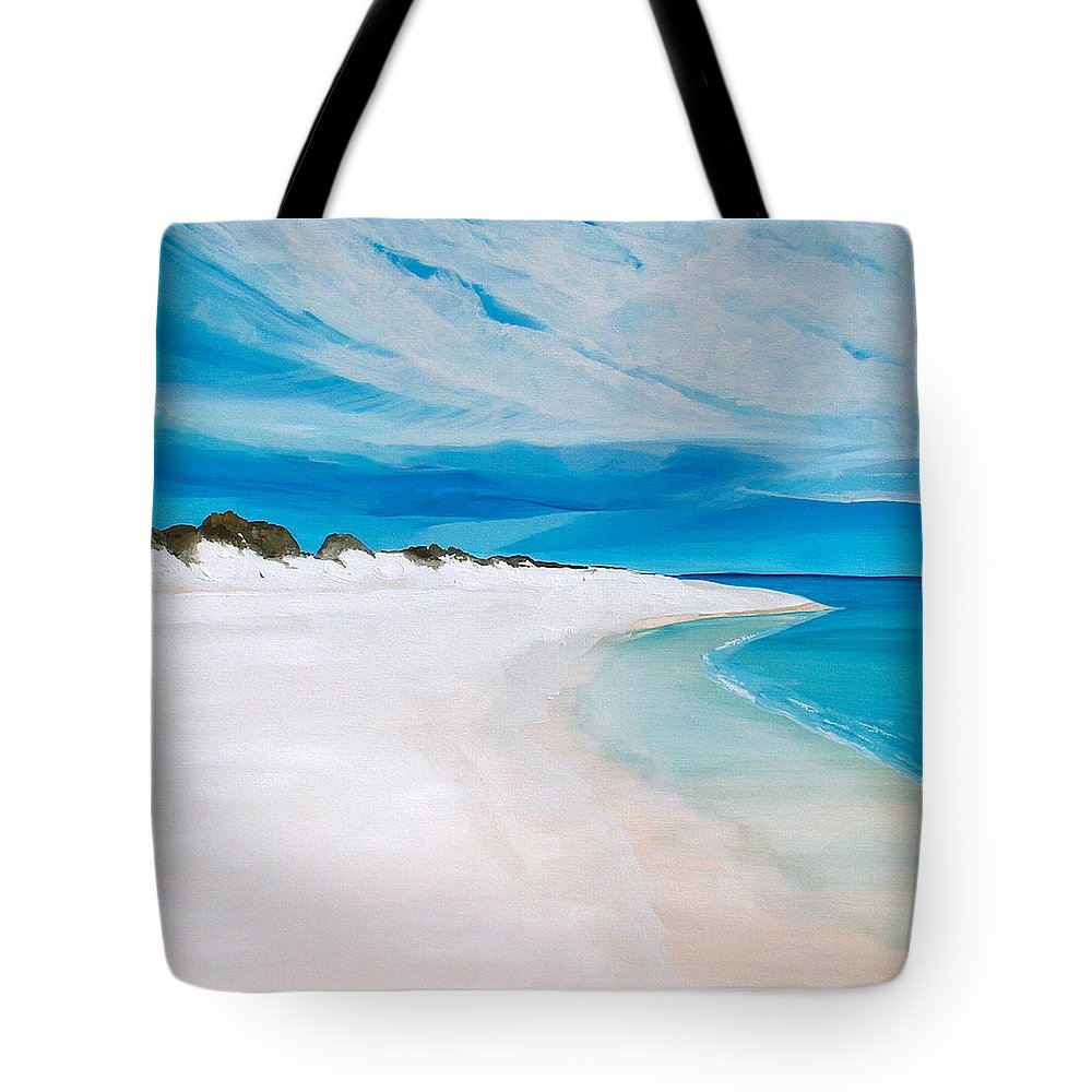 Beach Tote Bag featuring the painting Heaven by Racquel Morgan