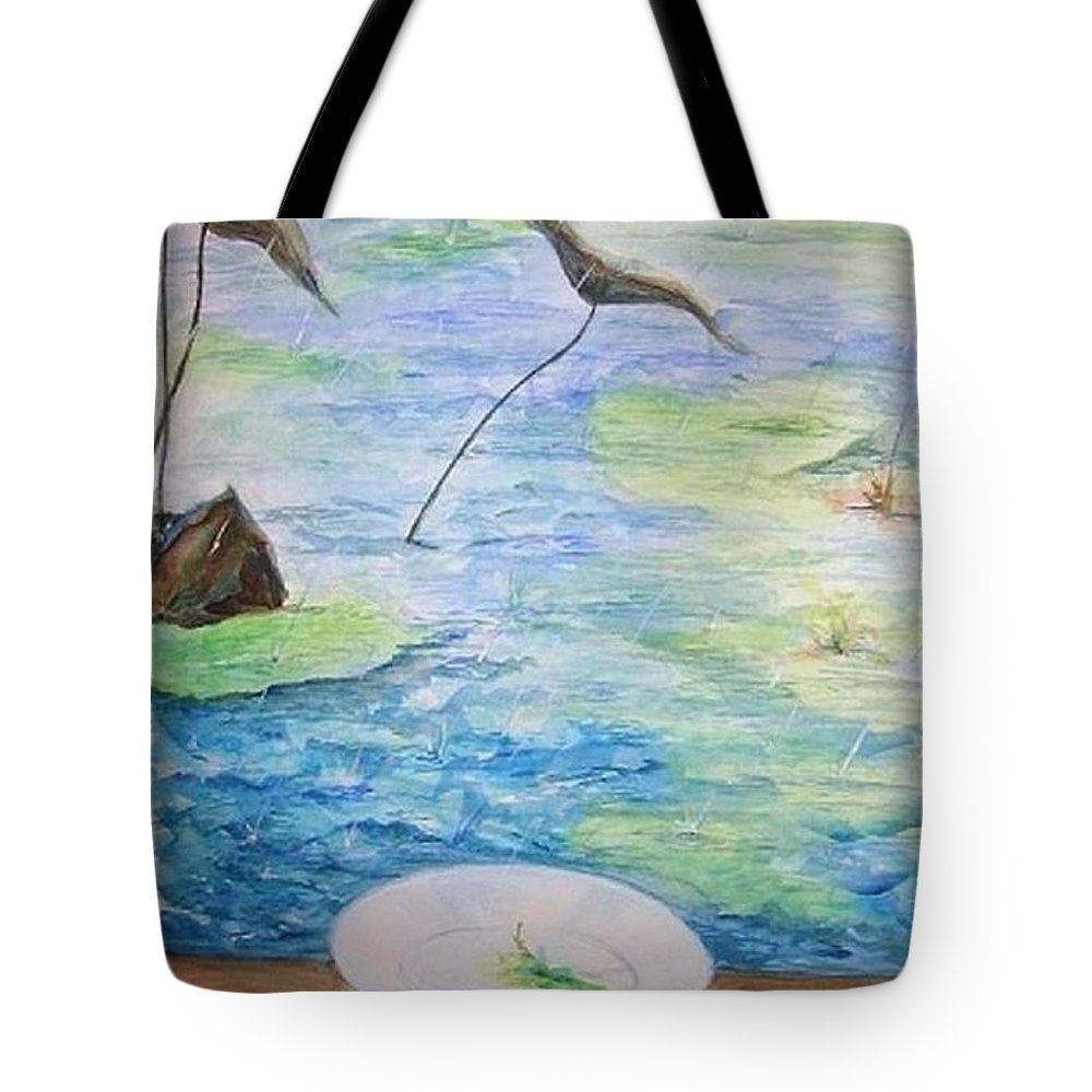 Feng Shui Study Tote Bag featuring the painting Heaven Sent Gentle Rain by Lizzy Forrester
