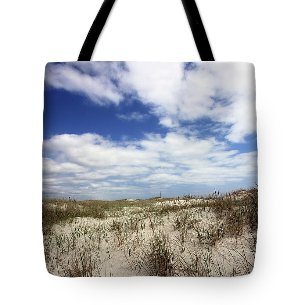 Beach Tote Bag featuring the photograph Heavenly Dune by Mary Haber
