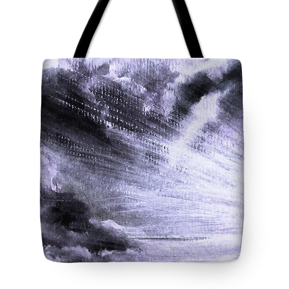 Sunset Tote Bag featuring the painting Heavenly Light by Hazel Holland