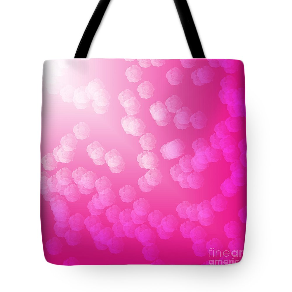 Unique Tote Bag featuring the digital art Heavenly Roses by Susan Stevenson