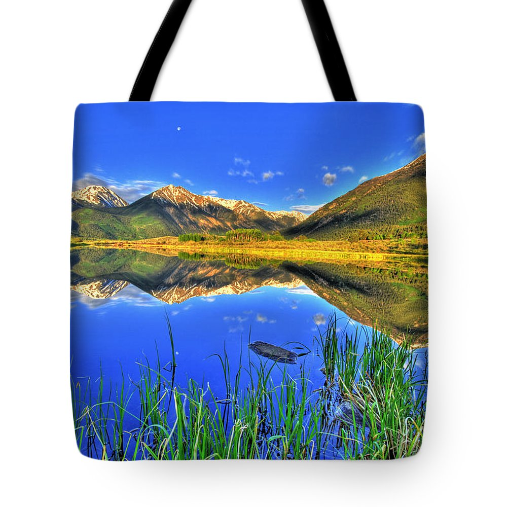 Mountains Tote Bag featuring the photograph Heavenly by Scott Mahon