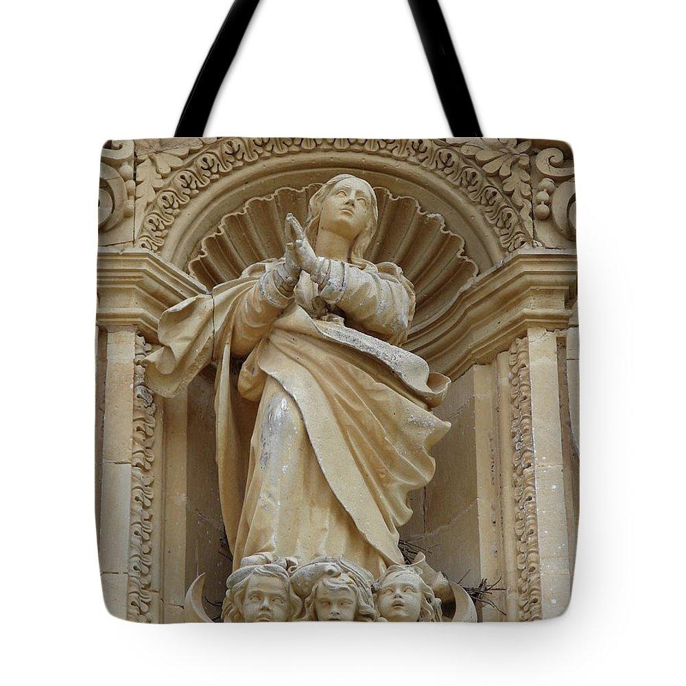 Rota Tote Bag featuring the photograph Heavenly Statue by Brett Winn