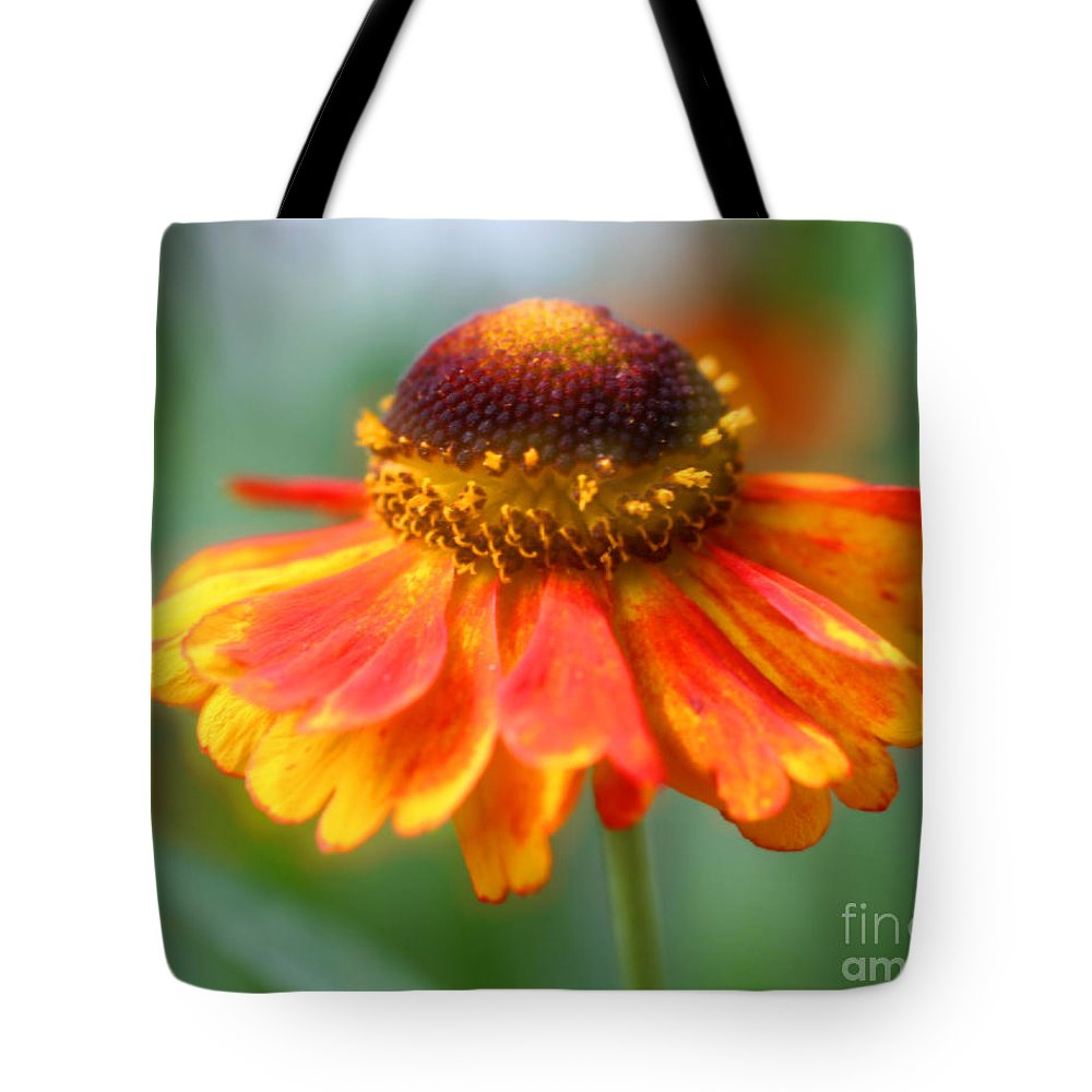 Flower Tote Bag featuring the photograph Heavenly Zinnia by Smilin Eyes Treasures