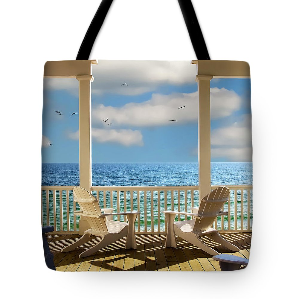 Seaside Tote Bag featuring the photograph Heaven's Gate by Janet Fikar