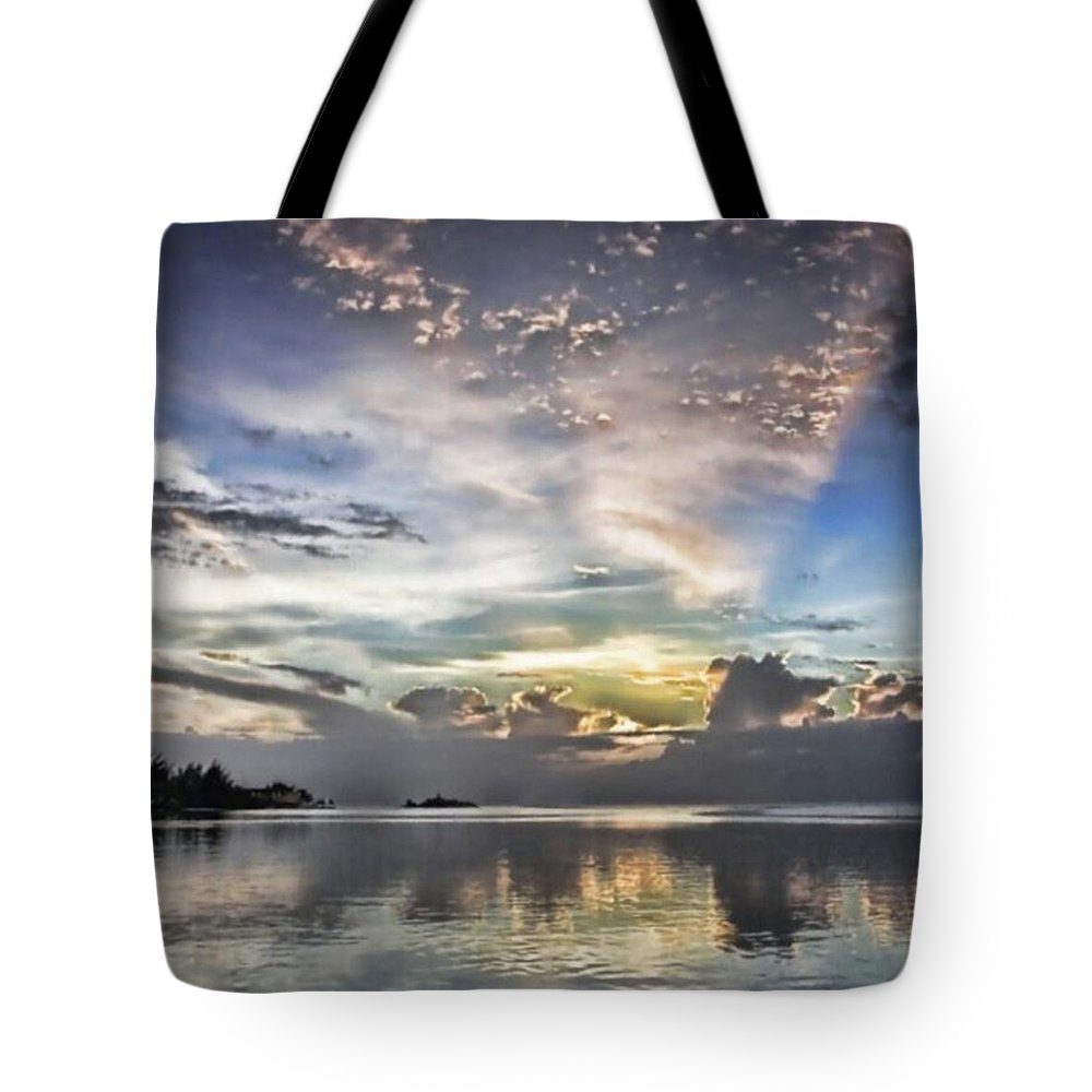 Jamaica Tote Bag featuring the photograph Heaven's Light - Coyaba, Ironshore by John Edwards