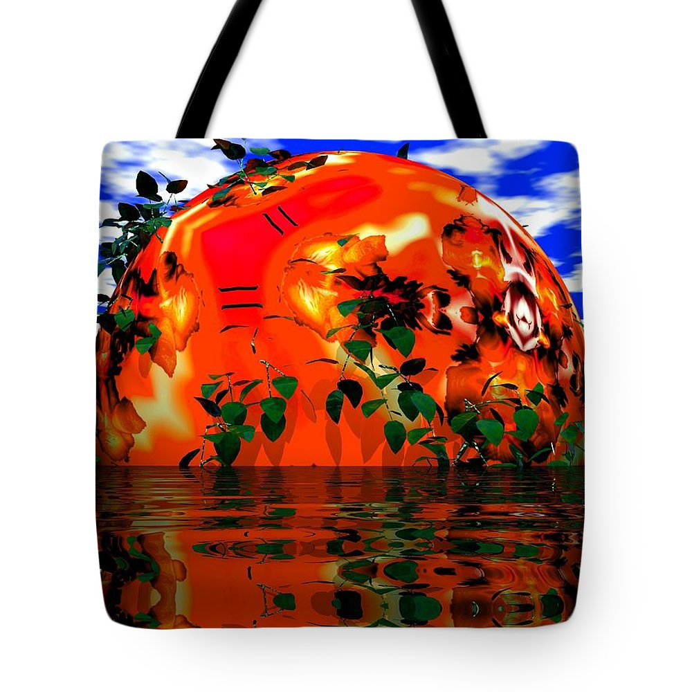 Sphere Tote Bag featuring the digital art Heavens Scent by Robert Orinski