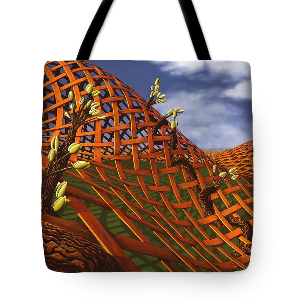 Architecture Tote Bag featuring the painting Hedera Ferrugo by Patricia Van Lubeck