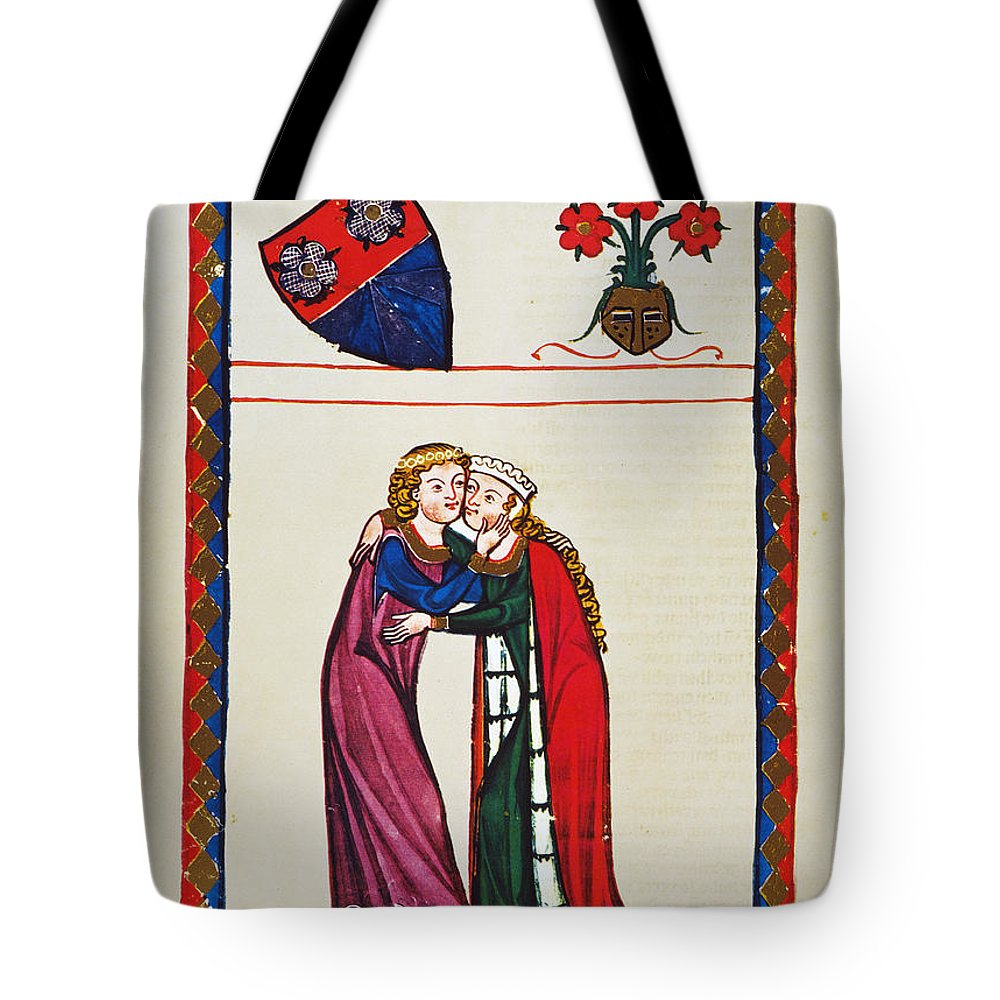 14th Century Tote Bag featuring the photograph Heidelberg Lieder, 14th C by Granger