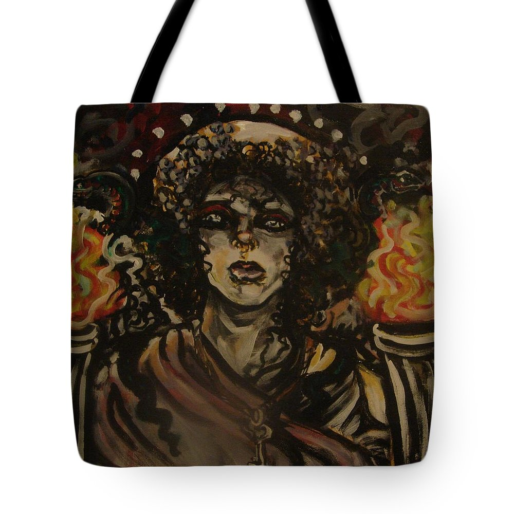 Hekate Tote Bag featuring the painting Hekate II by Samantha Sanders