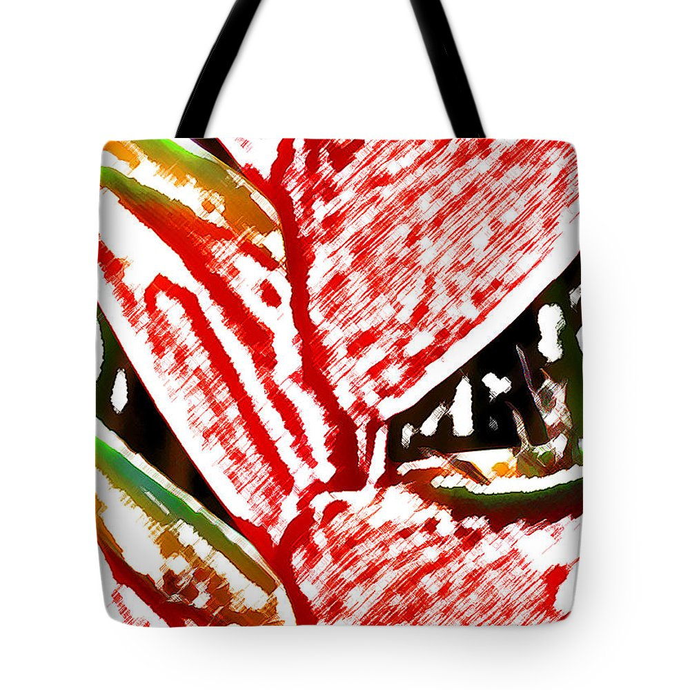 Heliconia Tote Bag featuring the digital art Heliconia 3 by James Temple