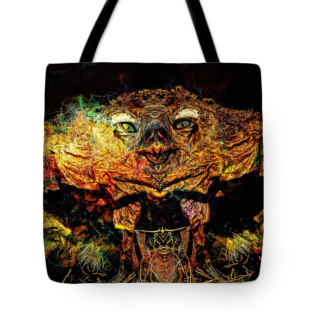 Scary Tote Bag featuring the photograph Hell Bird by Bob Welch