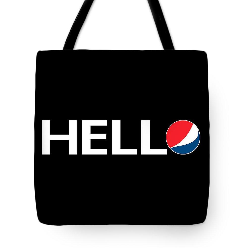 Humor Tote Bag featuring the digital art Hello by Priscilla Vogelbacher