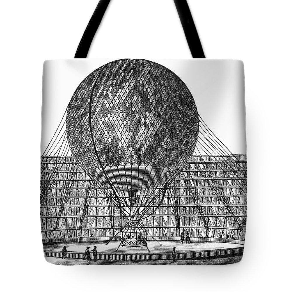 19th Century Tote Bag featuring the photograph Henri Giffard: Balloon by Granger