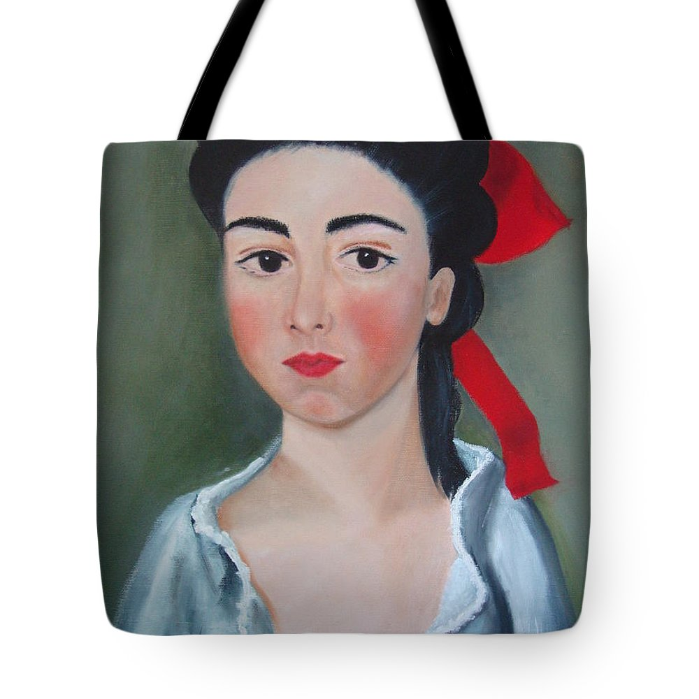Victorian Painting Tote Bag featuring the painting Henrietta by Deby Kalush