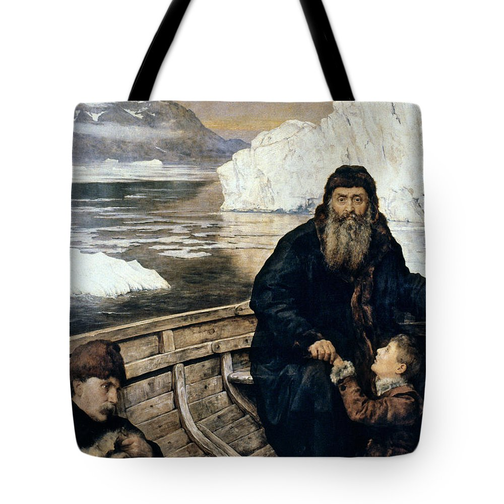1611 Tote Bag featuring the painting Henry Hudson And Son by Granger
