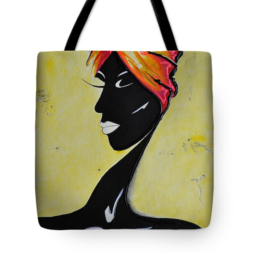 Autumn Tote Bag featuring the painting Her by Luis McDonald