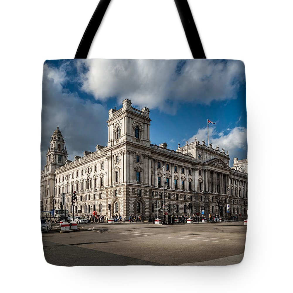 British Tote Bag featuring the photograph Her Majesty's Treasury by Adrian Evans