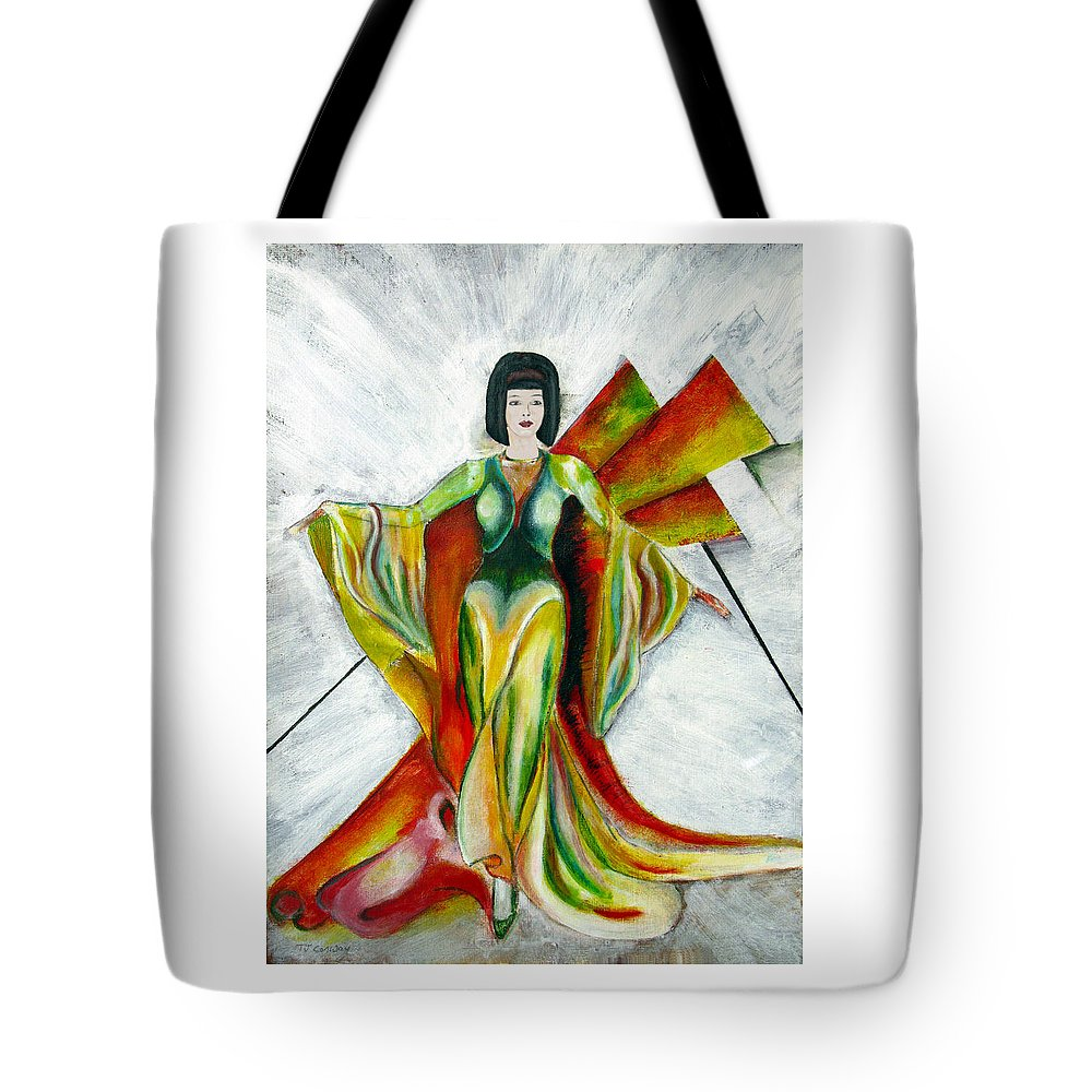 Dress Tote Bag featuring the painting Here Comes The Sun by Tom Conway