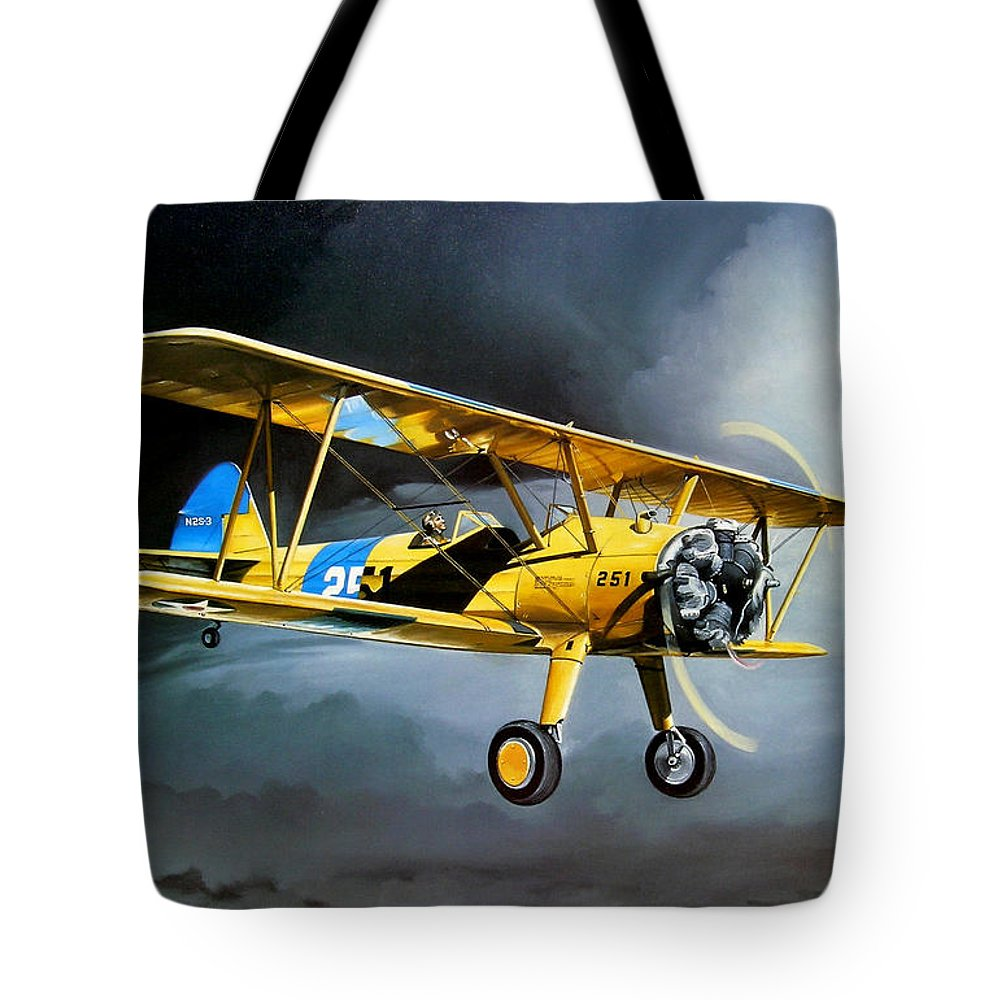 Military Tote Bag featuring the painting Here Comes The Sun by Marc Stewart