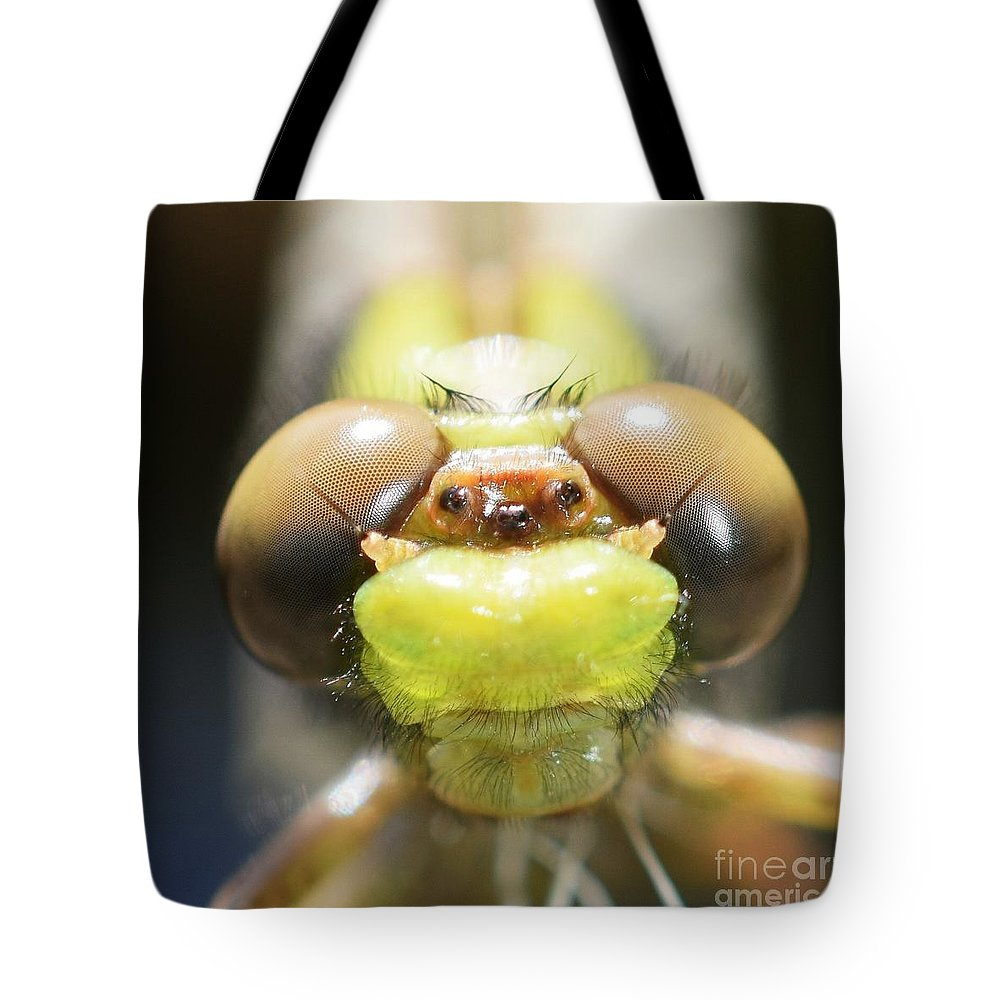 Macro Tote Bag featuring the photograph Here's Looking At You Kid by Julie Street