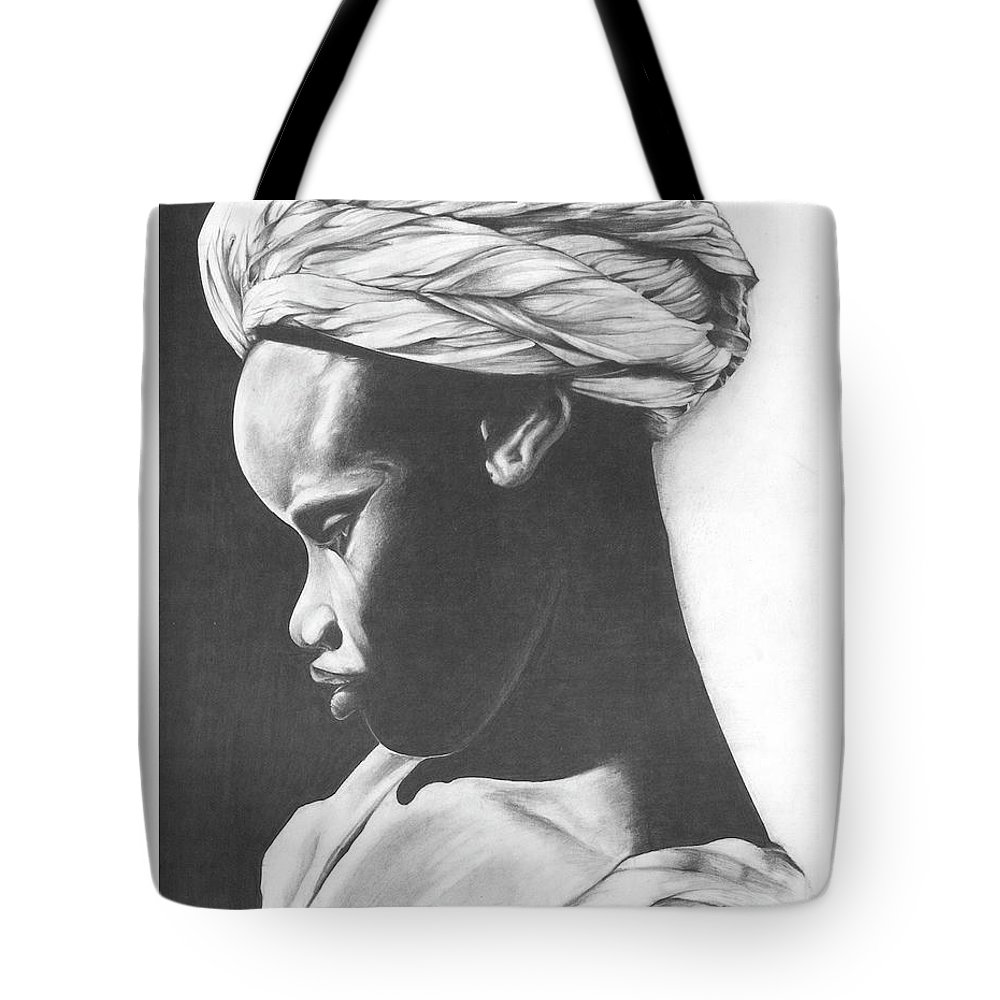 Heritage Art Tote Bag featuring the drawing Heritage by Rodolfo Cordoba