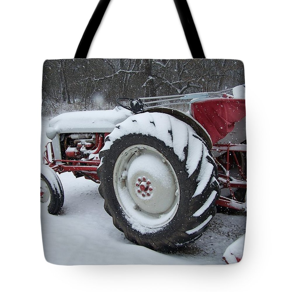 Tractor Tote Bag featuring the photograph Herman by Gale Cochran-Smith
