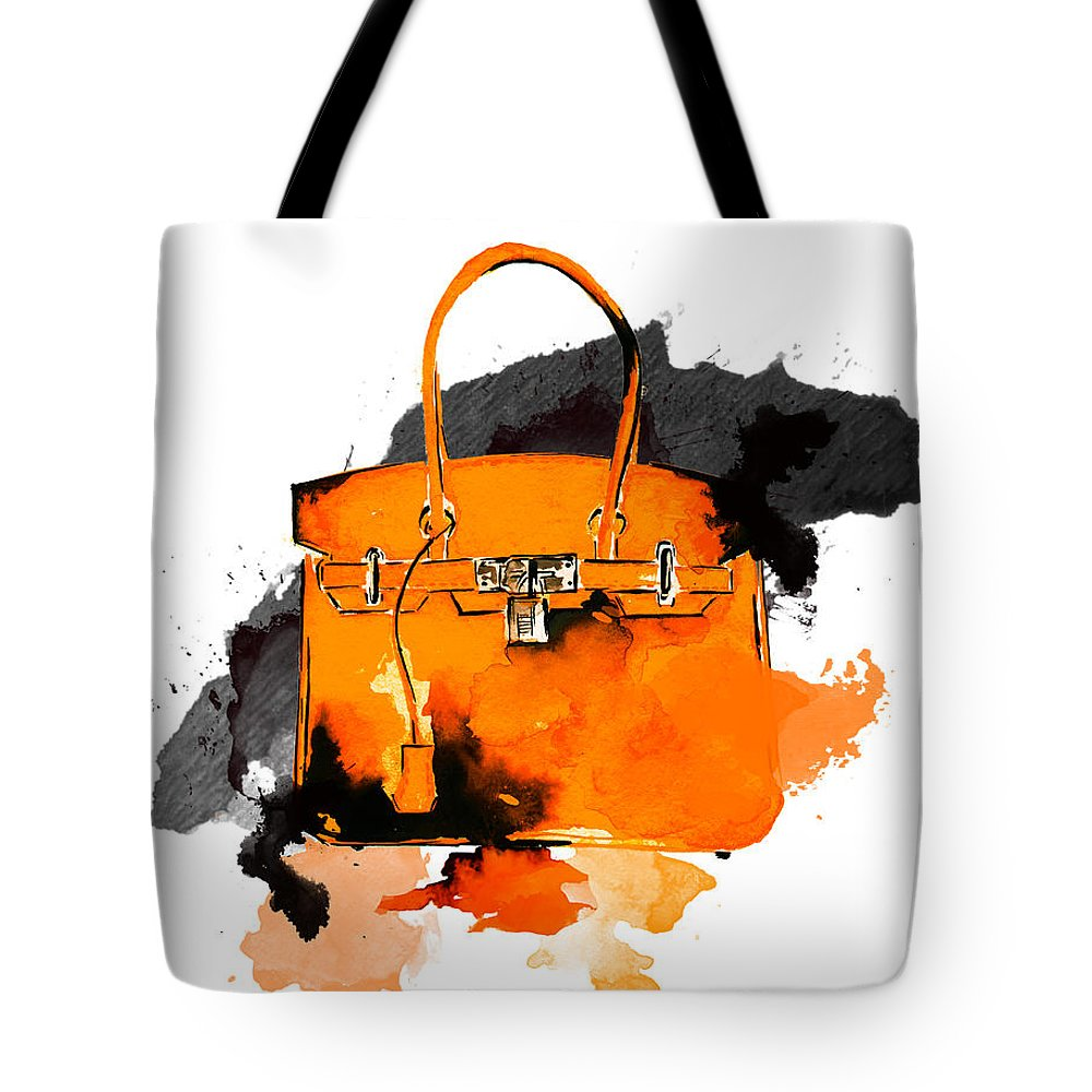 b47875932f Art Tote Bag featuring the painting Hermes Bag