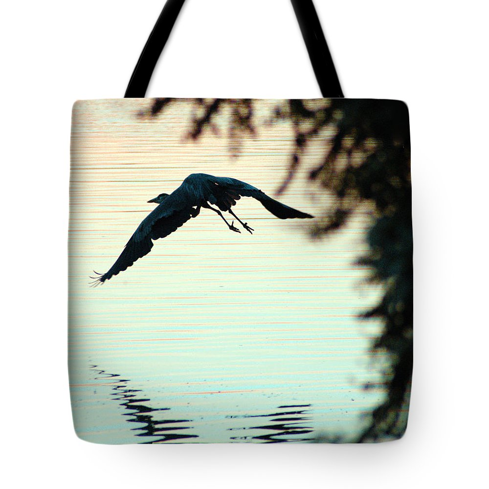Clay Tote Bag featuring the photograph Heron At Dusk by Clayton Bruster