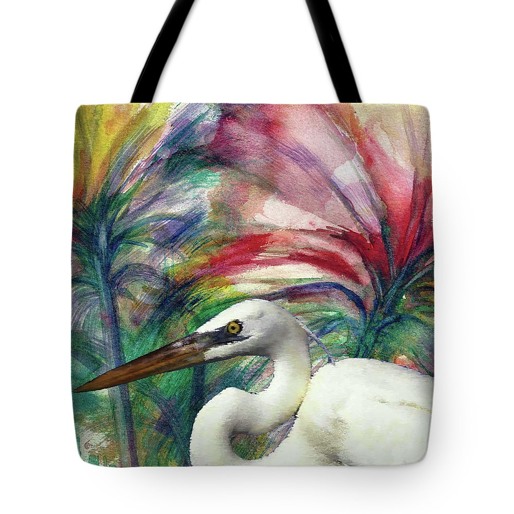 #creativemother Tote Bag featuring the painting Heron Flair by Francelle Theriot