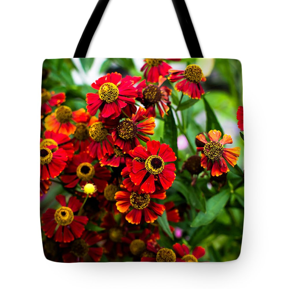 Flowers Tote Bag featuring the photograph Heron Hill Garden by Alison Squiers