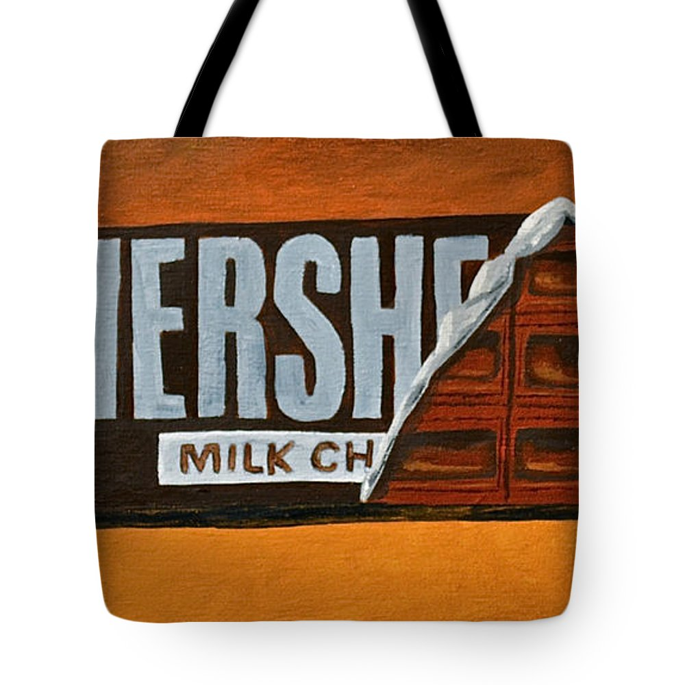 Hershey Bar Candy Bar Candy Kids Candy Tote Bag featuring the painting  Hershey Bar by Herschel 57fcf8d9608a8